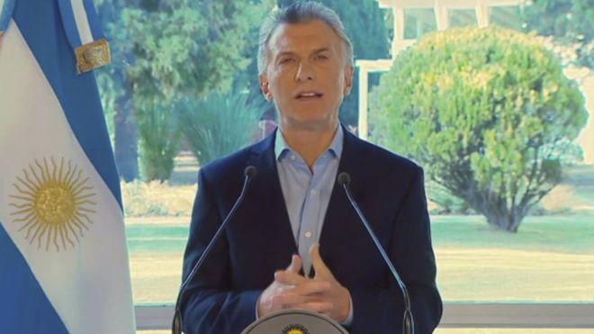 民意调查震惊之后阿根廷的马克里公布了经济救济措施