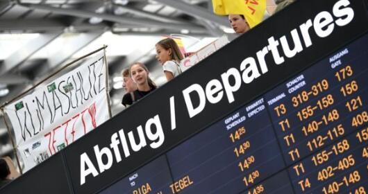 气候变化 德国保守派正在考虑增加航空旅行税