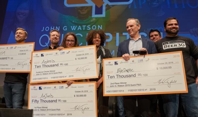 尔湾科技初创公司在圣地亚哥的QuickPitch竞赛中清理