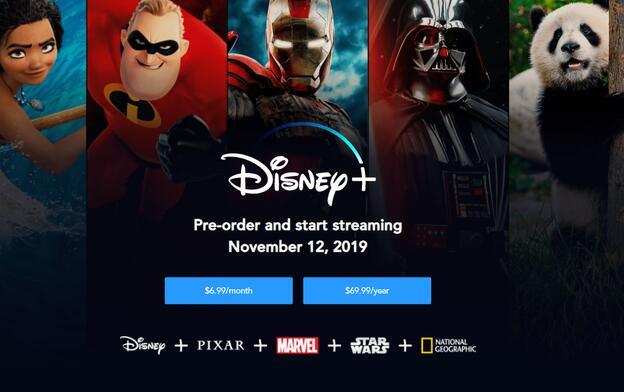 距离迪士尼推出Netflix竞争对手流媒体服务的第一天