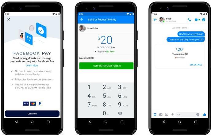 Facebook推出称为Facebook Pay的统一支付平台