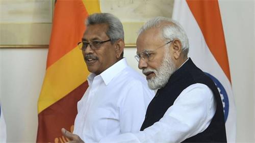 总理莫迪在与戈塔巴亚·拉贾帕克萨会谈后宣布向斯里兰卡提供4.5亿美元的信贷额度